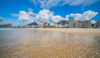 Empty streets of Rio during the coronavirus infection pandemic (COVID-19).