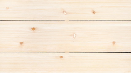 panoramic wooden background - unpainted wood panel from three horizontal pine planks