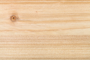 horizontal wooden background - unpainted pine plank with knot close up