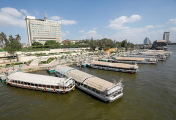 Boats are parked on Nile river during Eid al-Fitr, a Muslim festival marking the end of the holy fasting month of Ramadan, in the old Islamic area of Cairo, amid concerns about the spread of the coronavirus disease (COVID-19)