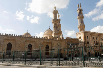 A view of the closed Al-Azhar mosque during Eid al-Fitr, a Muslim festival marking the end of the holy fasting month of Ramadan, amid concerns about the spread of the coronavirus disease (COVID-19), in Cairo