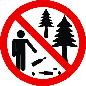 Do not litter sign camp sign