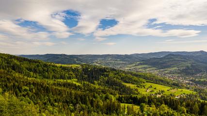Wisła- Panorama Miasta - krajobraz gór