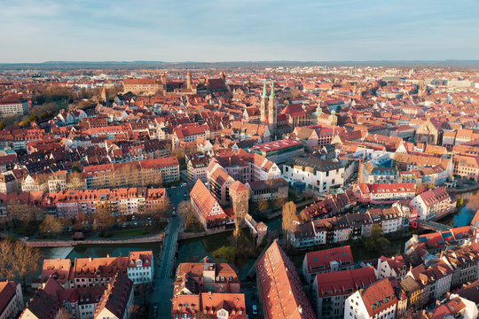 Nuremberg panoramic view of the old town