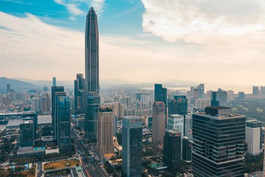 Shenzhen sykline view during daytime