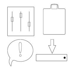 set of vector drawing tools