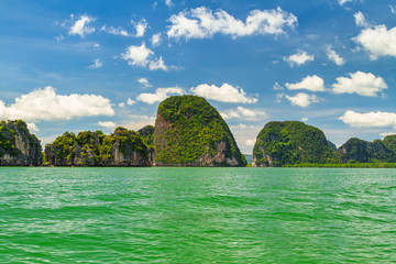Amazing Phang Nga Bay with thousands of islands in Thailand