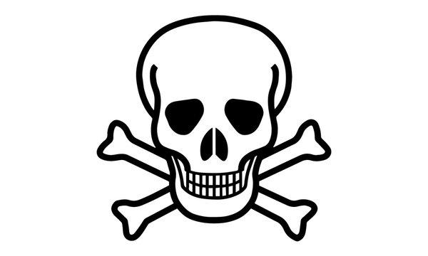 skull and crossbones icon vector illustration.