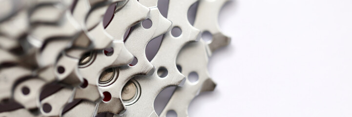 Poster Bicycle Large number metal gear sprocket for bicycle.