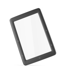 E-book reader with blank display