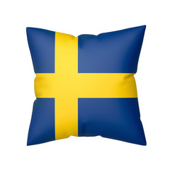 Pillow with the flag of Sweden