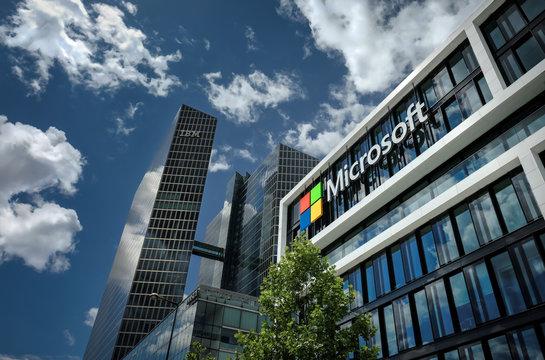 Microsoft headquarters. Munich, Germany - May 24, 2020
