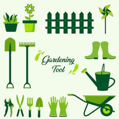 Gardening tools collection. Gardening tool elements and icon