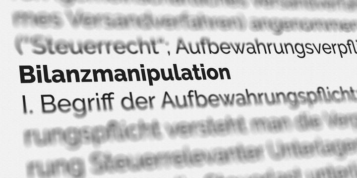 Bilanzmanipulation Definition