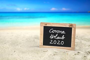 Wall Mural - Corona Urlaub 2020