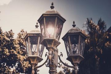 Close-up Of Street Light Against Sky Fotomurales