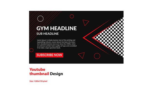 thumbnail Design - gym/yoga/dance club