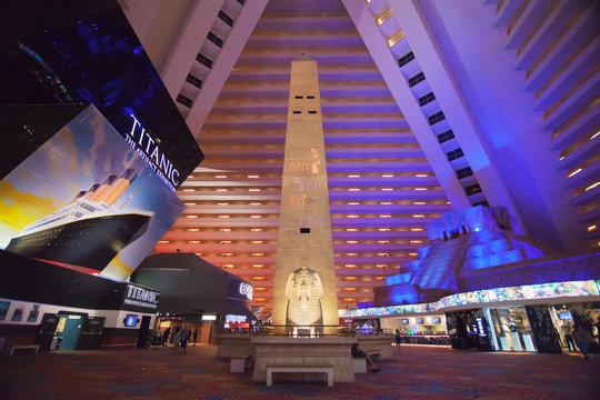 Lobby of Luxor Hotel in Las Vegas