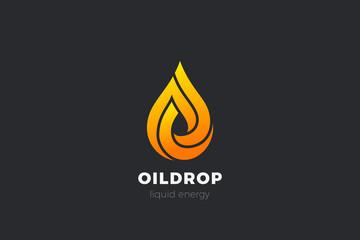 Wall Mural - Liquid Fire Oil Droplet Drop Logo design vector template. Aqua Drink Energy Logotype infinity concept icon.