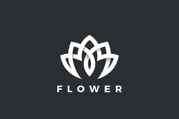 Flower Logo Lotus abstract Luxury design for Cosmetics Fashion Jewelry SPA Beauty salon company business brand.