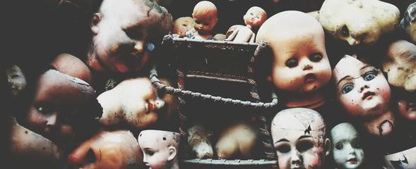 Fototapeta Full Frame Shot Of Abandoned Dolls obraz