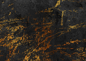 Fotobehang - Abstract black and golden grunge marble stone texture background. Vector illustration