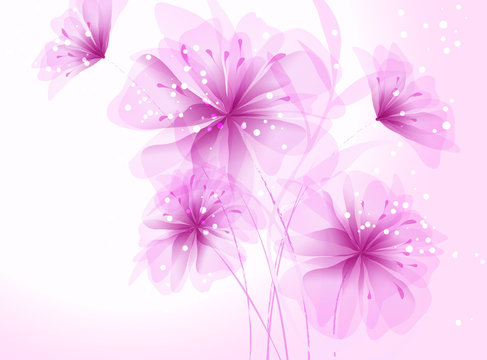 bouquet of beautiful pink flowers