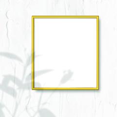 Wall Mural - Golden frame on a wall vector