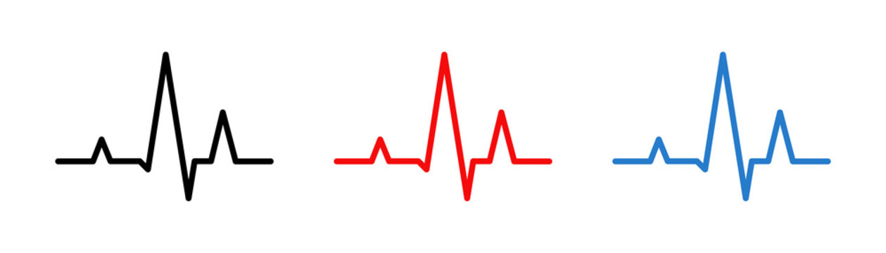 Heart beat line. Medical pulse icon. Health care concept. Vector isolated illustation.