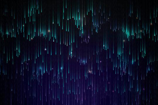 Green neon meteor background design vector