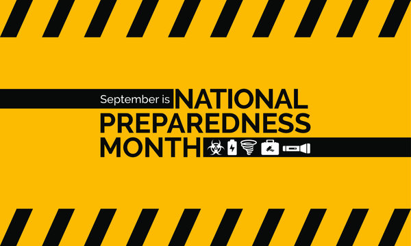 Vector illustration on the theme of National Preparedness month observed each year during September.