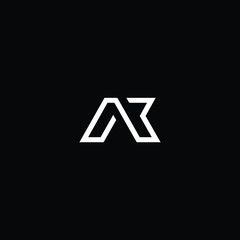 Fototapeta  Professional Innovative Initial AB logo and BA logo. Letter AK KA Minimal elegant Monogram. Premium Business Artistic Alphabet symbol and sign obraz