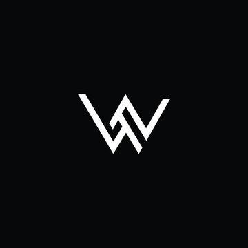 Professional Innovative Initial WN logo and NW logo. Letter W LOGO Minimal elegant Monogram. Premium Business Artistic Alphabet symbol and sign