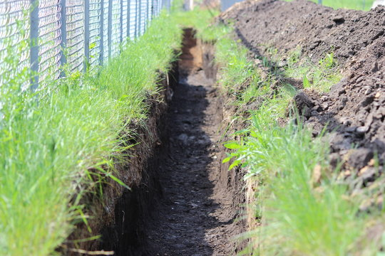 trench in the ground