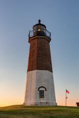 The Point Judith light near Narragansett, Rhode Island, USA
