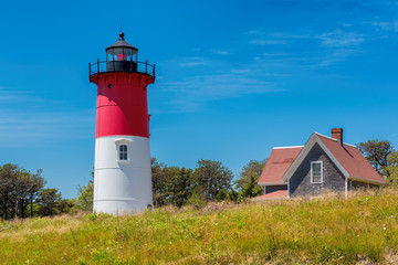 Nauset lighthouse is one of the famous lighthouses on Cape Cod, Massachusetts