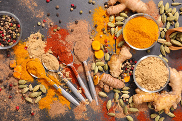 assorted of spice and ingredient