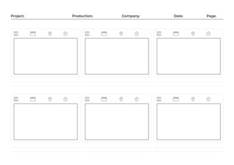 Storyboard Film Video Template for Movie Creation
