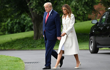 U.S. President Donald Trump departs White House heading to Baltimore on Memorial Day in Washington