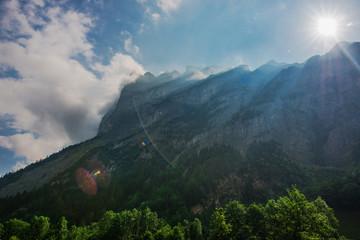 Wall Mural - Scenic Jungfrau Region Bernese Swiss Alps