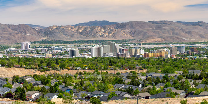 Skyline Cityscape of Reno Nevada