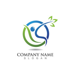 Healthy People logo designs template vector