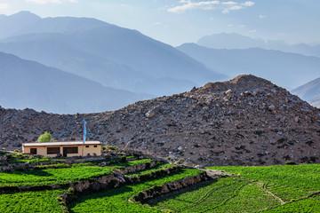 Nako village in Himalayas, Himachal Pradesh, India