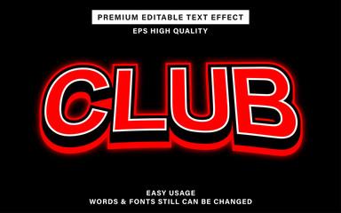 Wall Mural - club text effect