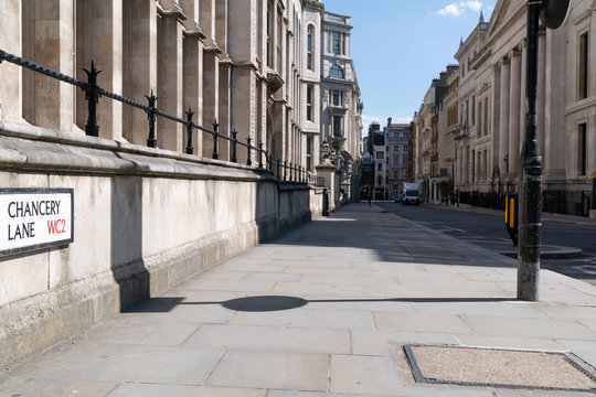 View of empty Chancery Lane road in London during Coronavirus COVID-19 lockdown - 2
