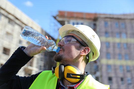 portrait of construction worker, close up