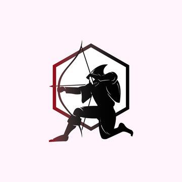 THE GREAT ARCHER, robin hood logotype, vetor illustrations