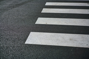 Fotomurales - High Angle View Of Zebra Crossing On Road