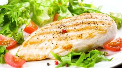 Wall Mural - grilled chicken breast with lettuce