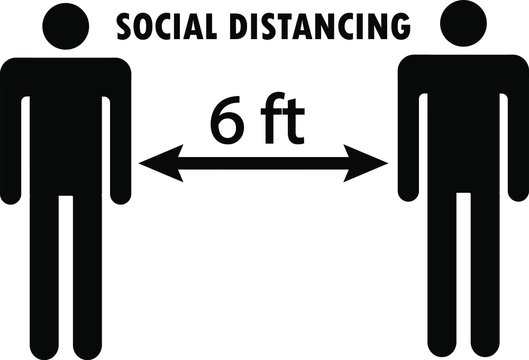 social distancing 6 feet
